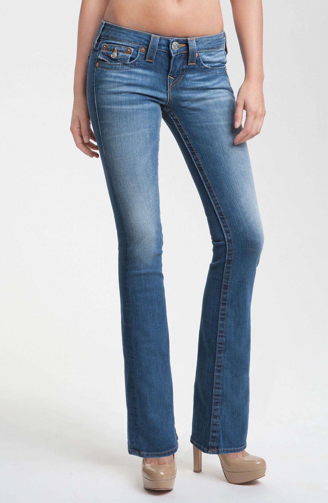 Alternate Image 1 Selected - True Religion Brand Jeans 'Becky' Bootcut Jeans (Short Fuse)(Petite)