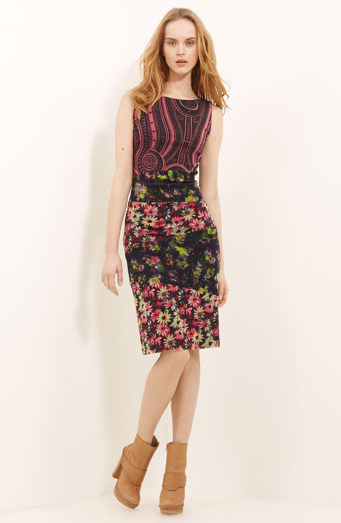 Alternate Image 1 Selected - Jean Paul Gaultier Fuzzi Patchwork Print Tulle Dress