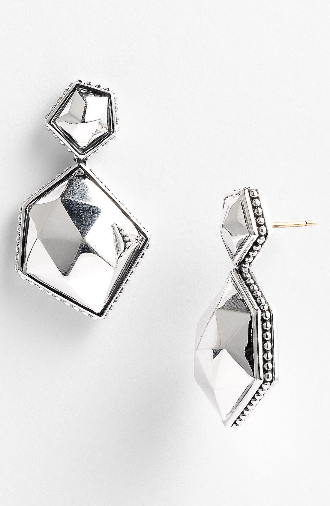 Alternate Image 1 Selected - LAGOS 'Silver Rocks' Angled Drop Earrings