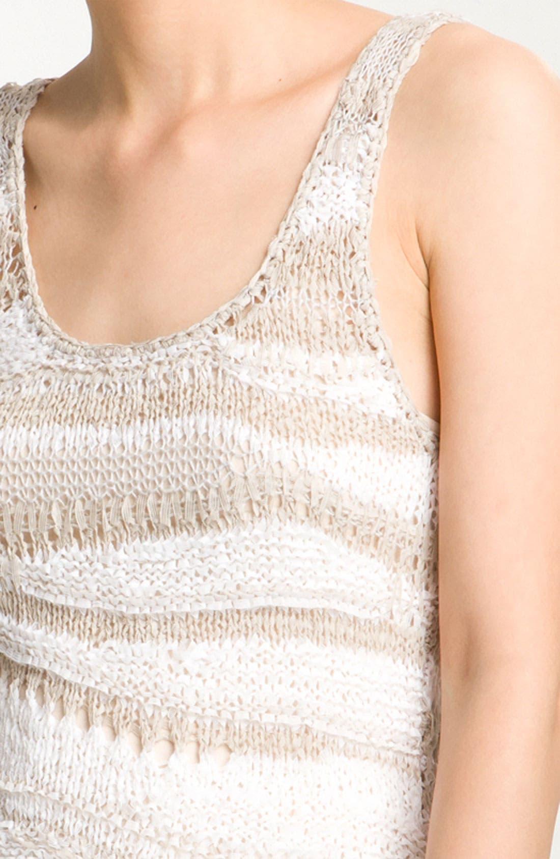 Alternate Image 2  - Hinge® Open Mesh Knit Tank