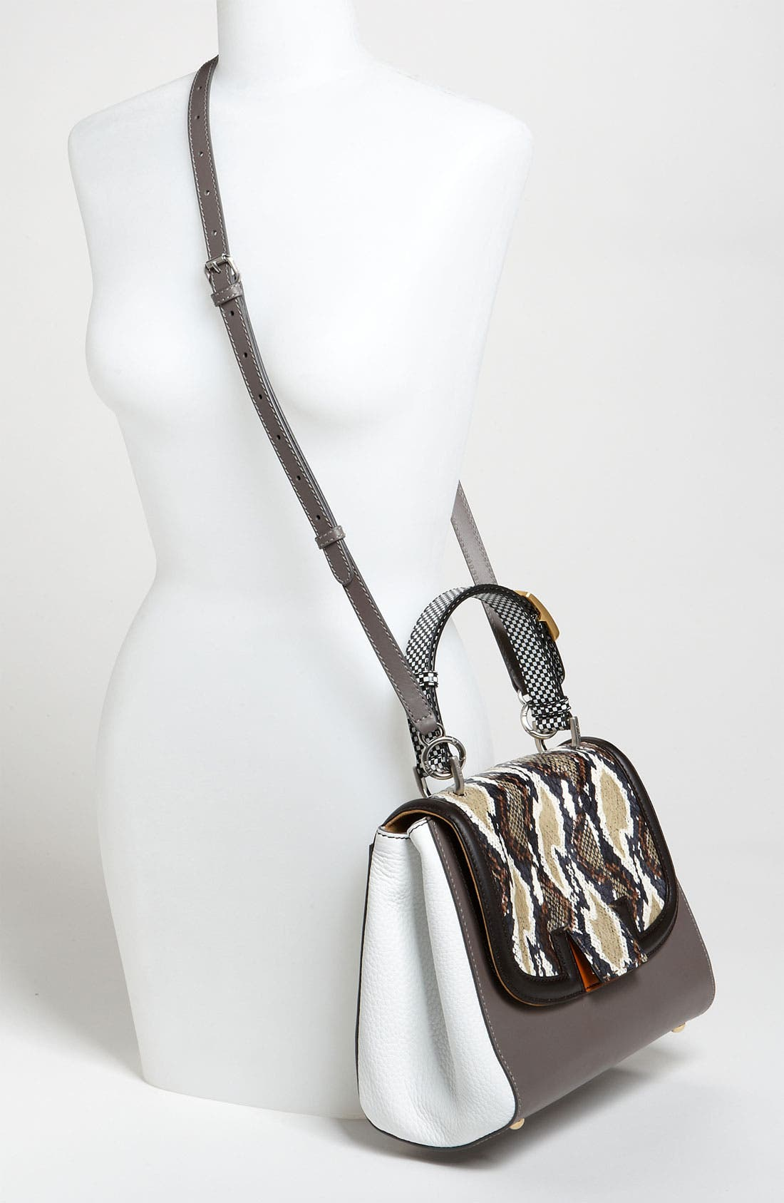 Alternate Image 2  - Fendi 'Silvana Elaphe Fantasy' Leather & Genuine Snakeskin Satchel