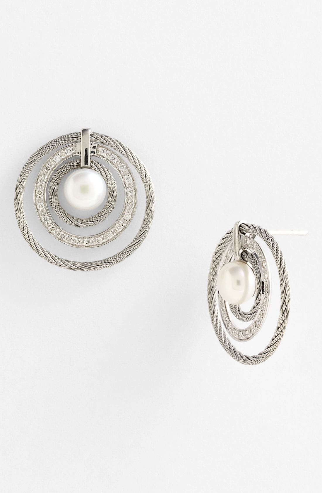 Main Image - ALOR® Pearl & Diamond Earrings
