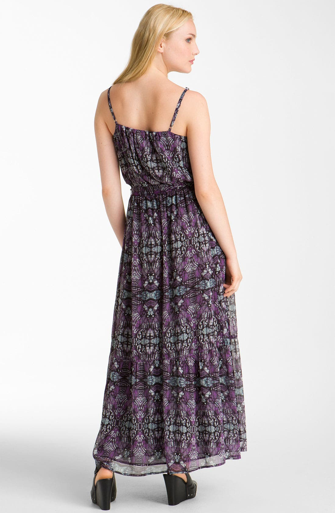 Alternate Image 2  - Caslon® Pintuck Chiffon Maxi Dress