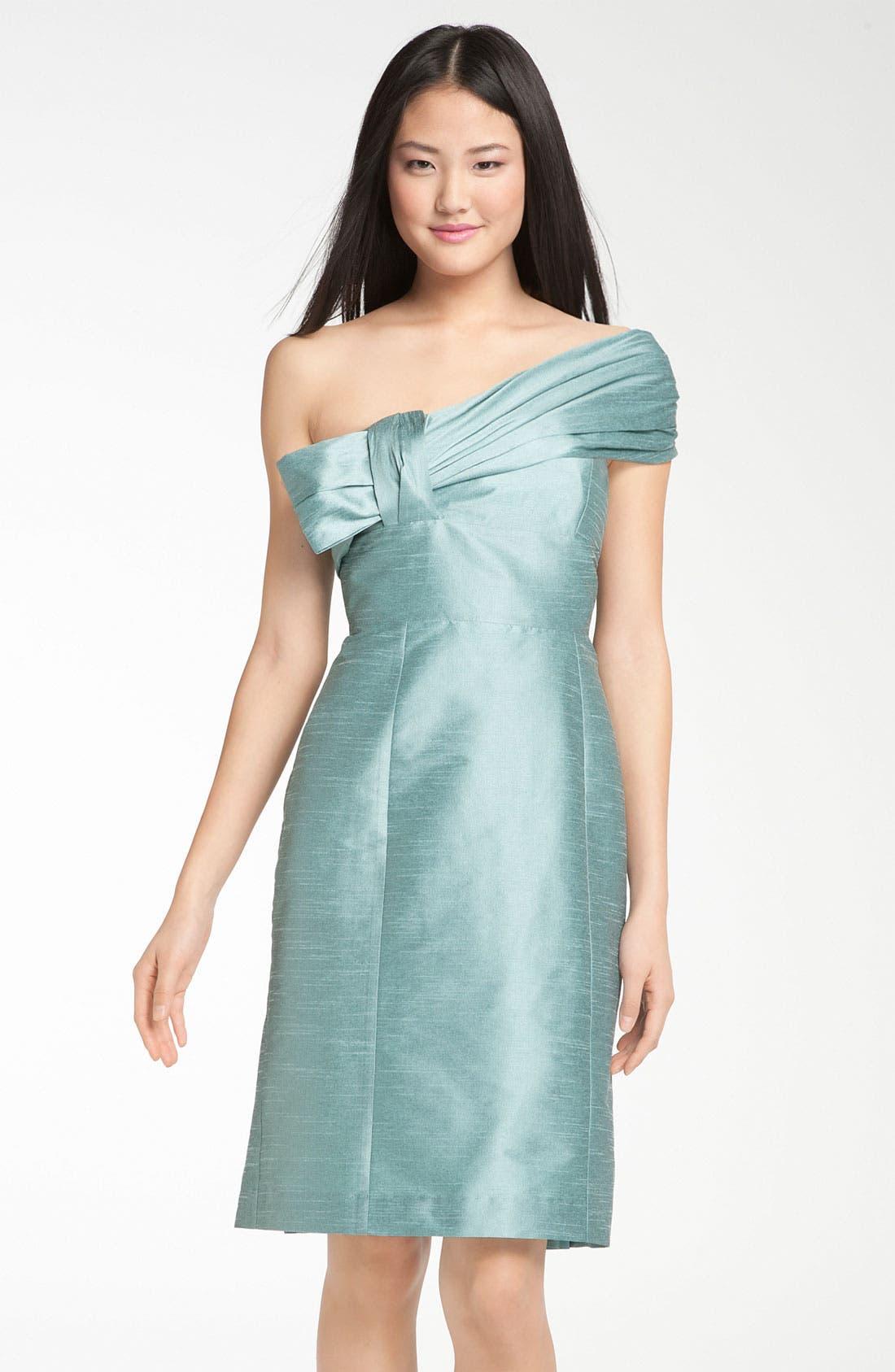 Main Image - Anna Elyse Bridesmaids Convertible Shantung Dress