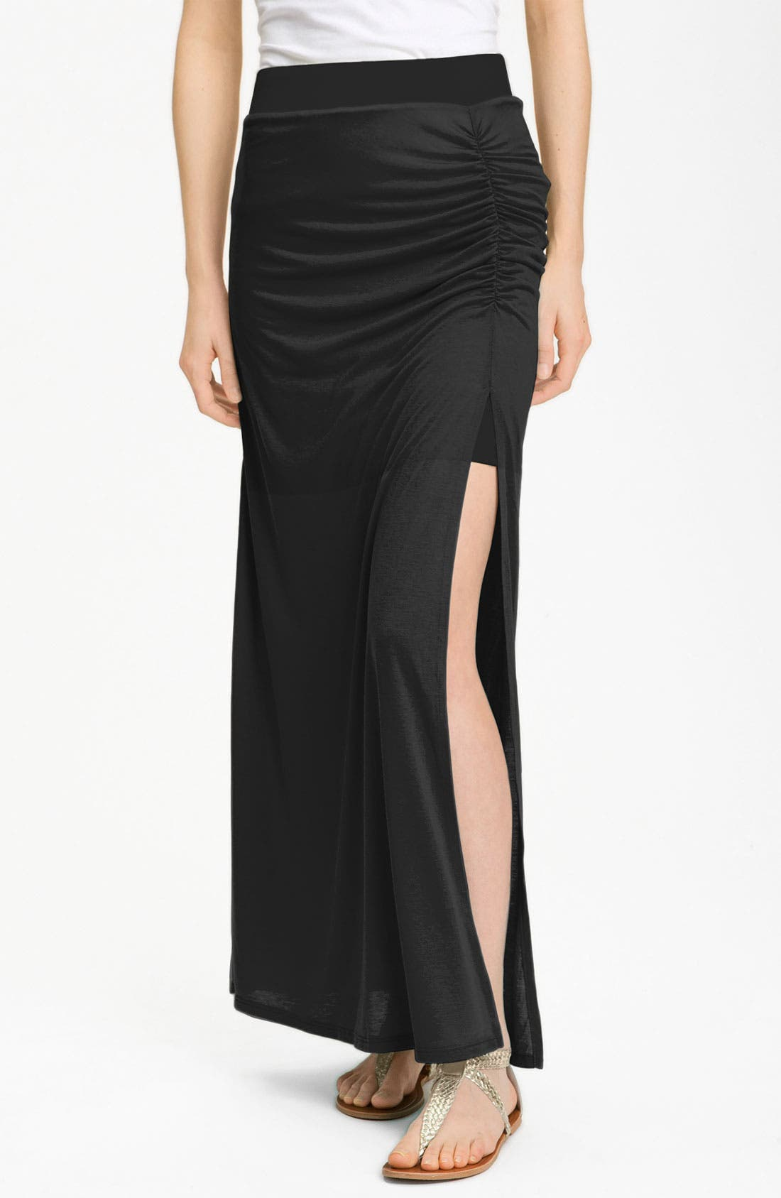 Alternate Image 1 Selected - Stem Ruched Maxi Skirt