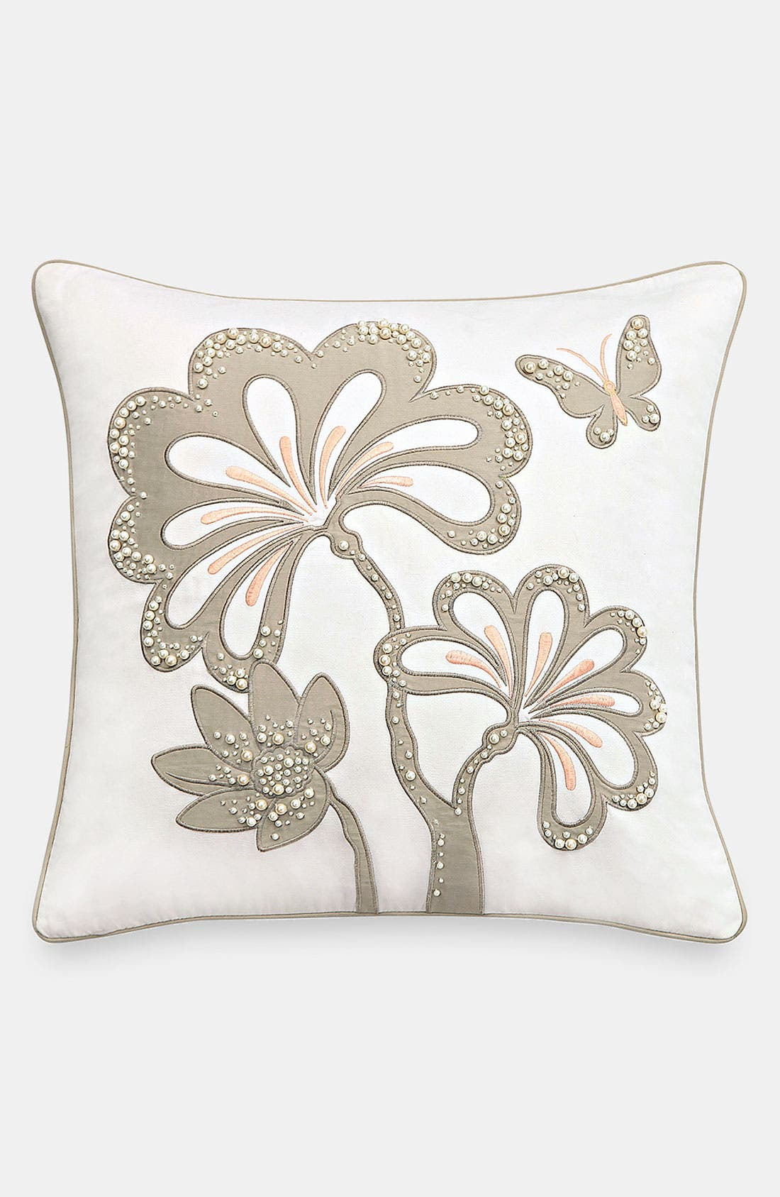 Alternate Image 1 Selected - kate spade new york 'pearl appliqué' decorative pillow