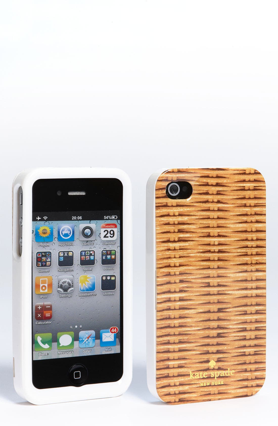 Main Image - kate spade new york 'wicker print' iPhone 4 & 4S case