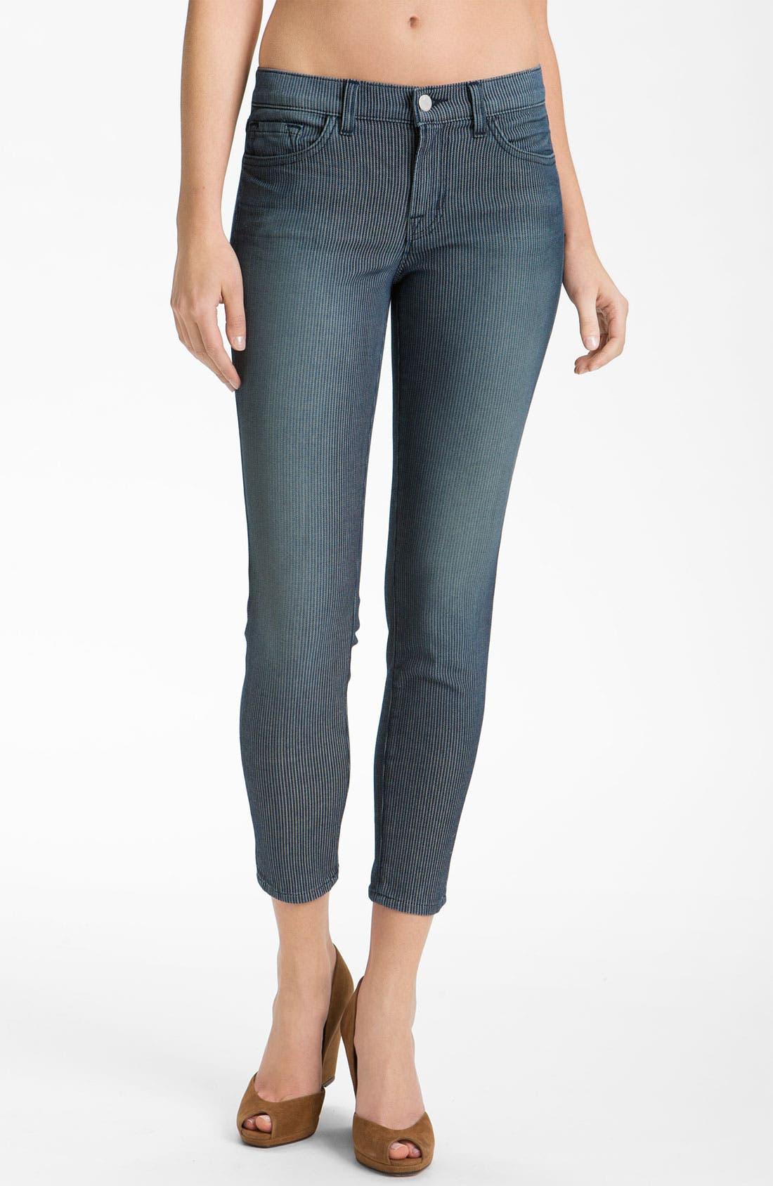 Main Image - J Brand Stripe Zip Ankle Skinny Jeans