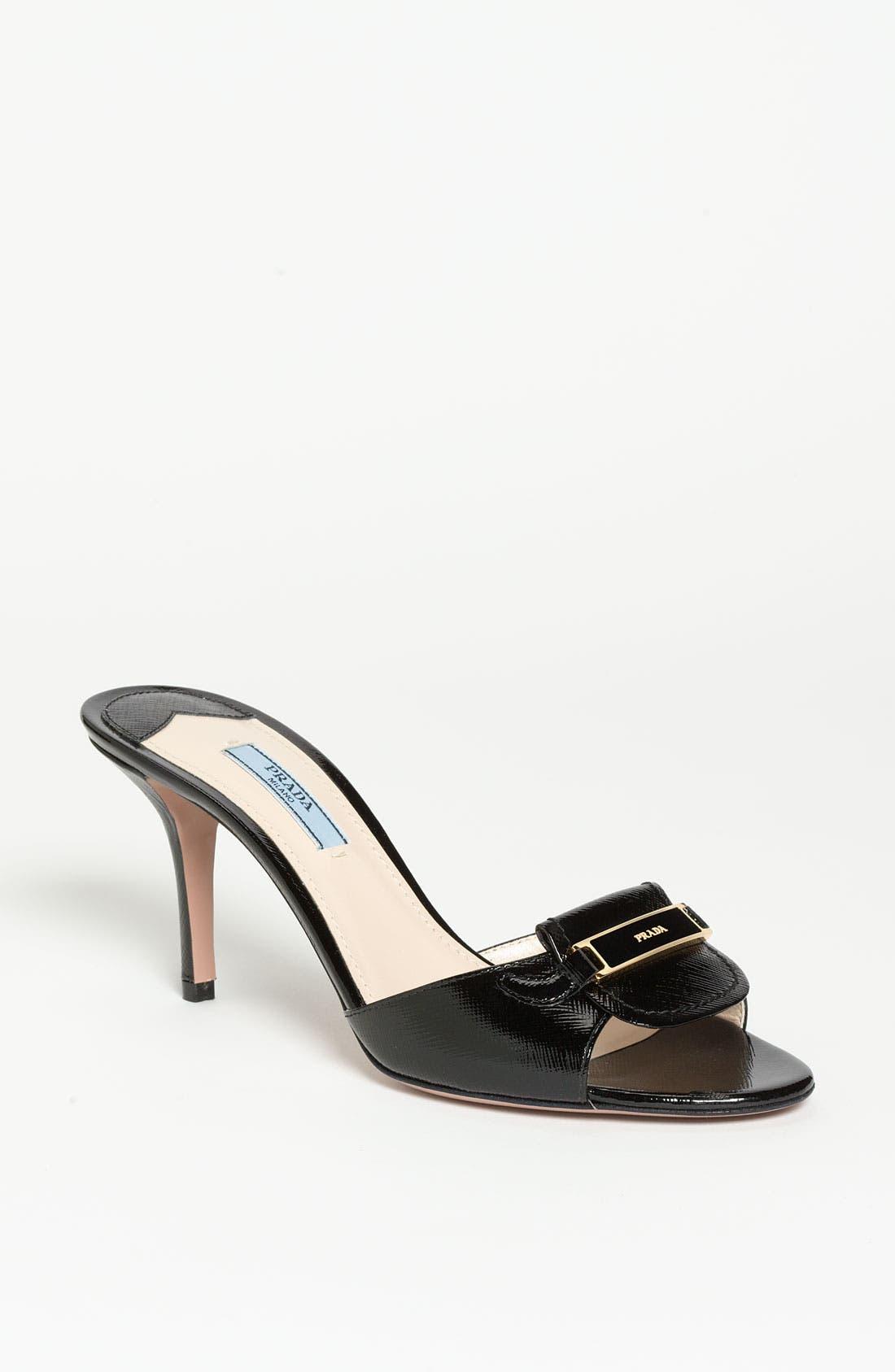 Alternate Image 1 Selected - Prada Buckle Slide Sandal