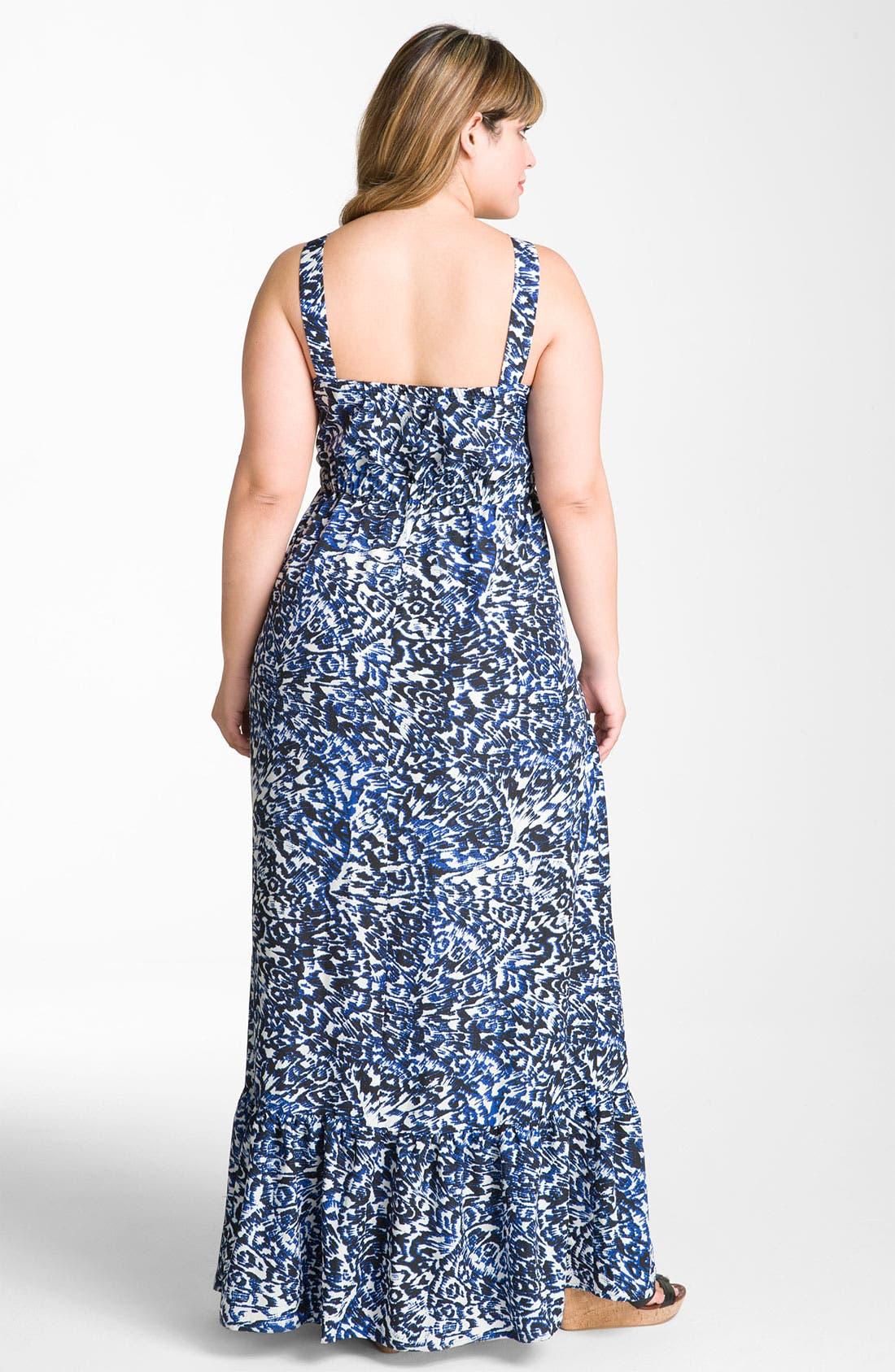 Alternate Image 2  - Bellatrix Print Maxi Dress (Plus)