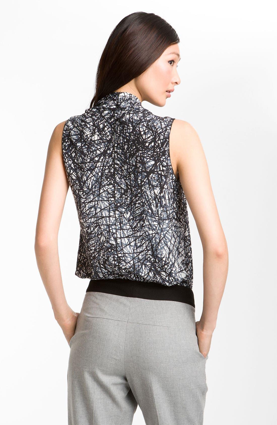 Alternate Image 2  - Rachel Roy Abstract Print Silk Top
