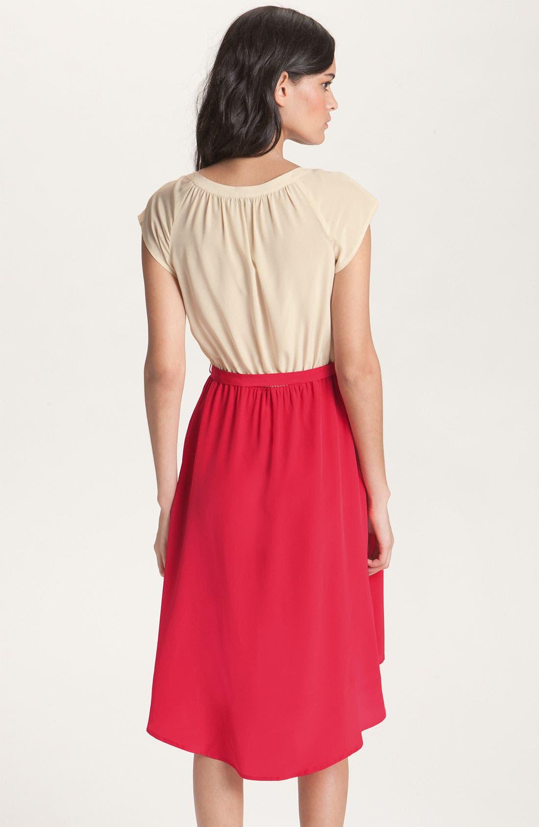 Alternate Image 2  - Presley Skye Belted Colorblock Silk Dress