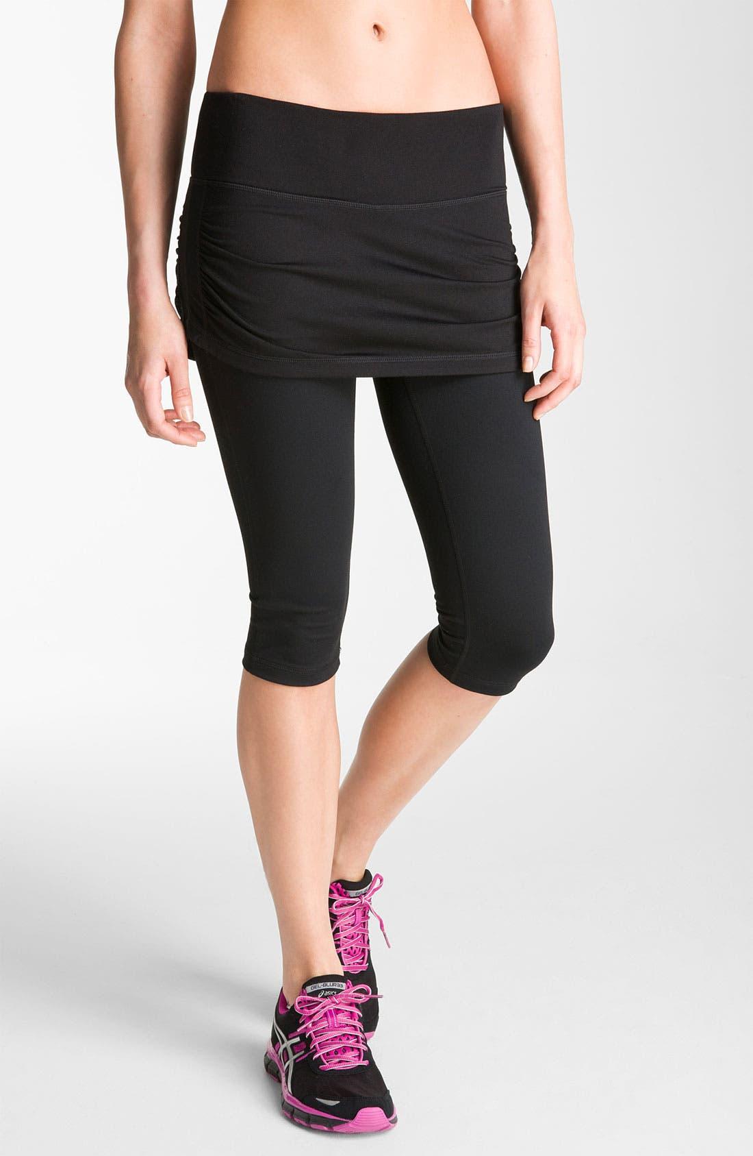 Main Image - Zella 'Work It' Skirted Shorts