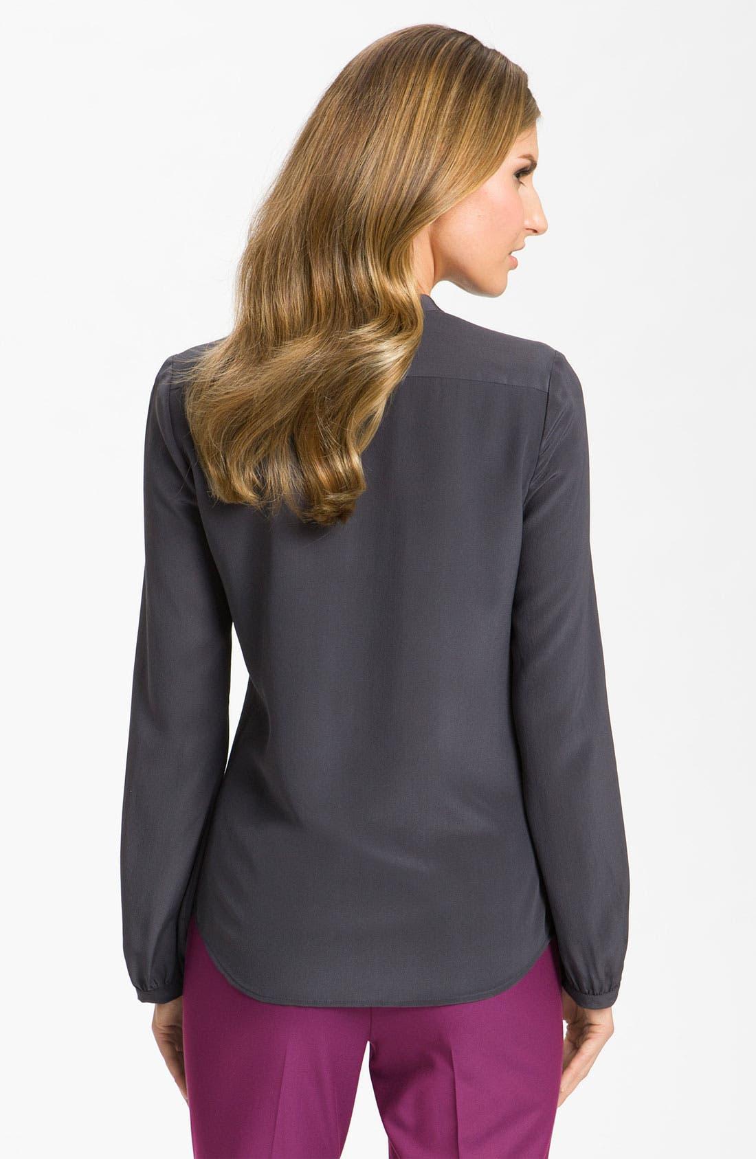 Alternate Image 2  - Classiques Entier® 'Novita' Ruffle Silk Blouse