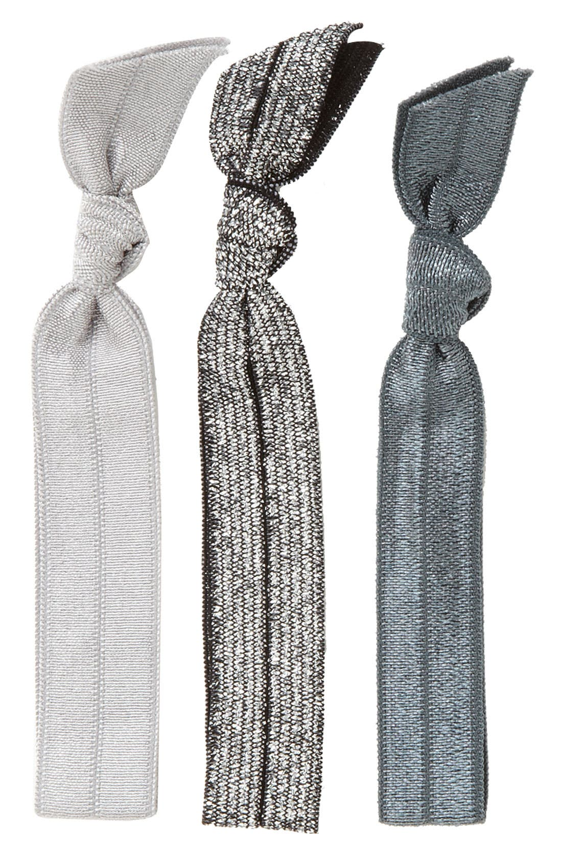 Main Image - Emi-Jay 'Silver Glitter' Hair Ties (3-Pack)