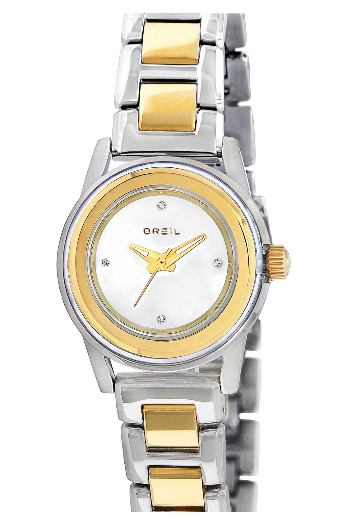 Alternate Image 1 Selected - Breil 'Orchestra' Crystal Index Two Tone Watch