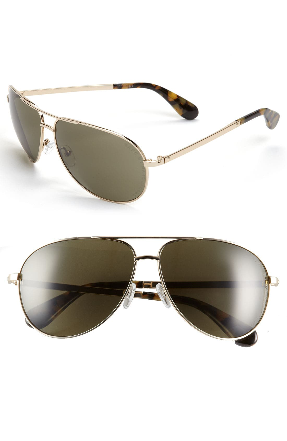 Main Image - MARC BY MARC JACOBS 62mm Aviator Sunglasses