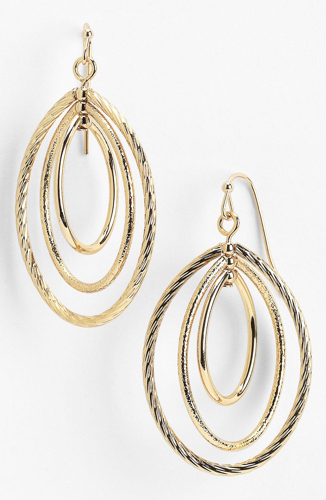 Alternate Image 1 Selected - Anne Klein Triple Orbital Drop Earrings