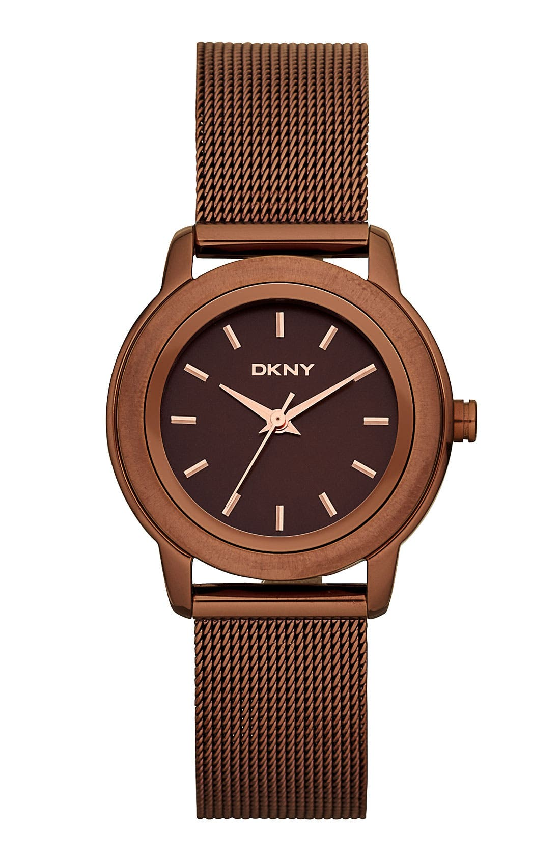 Main Image - DKNY 'Tompkins' Mesh Bracelet Watch, 28mm