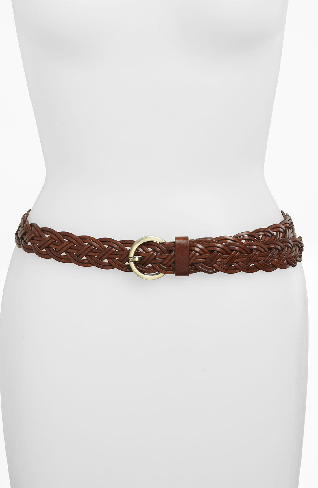 Main Image - Lulu Woven Bonded Leather Belt (Juniors) (Online Only)