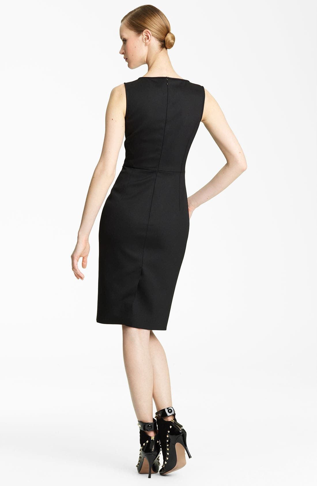 Alternate Image 2  - Valentino Techno Stretch Wool Sheath Dress