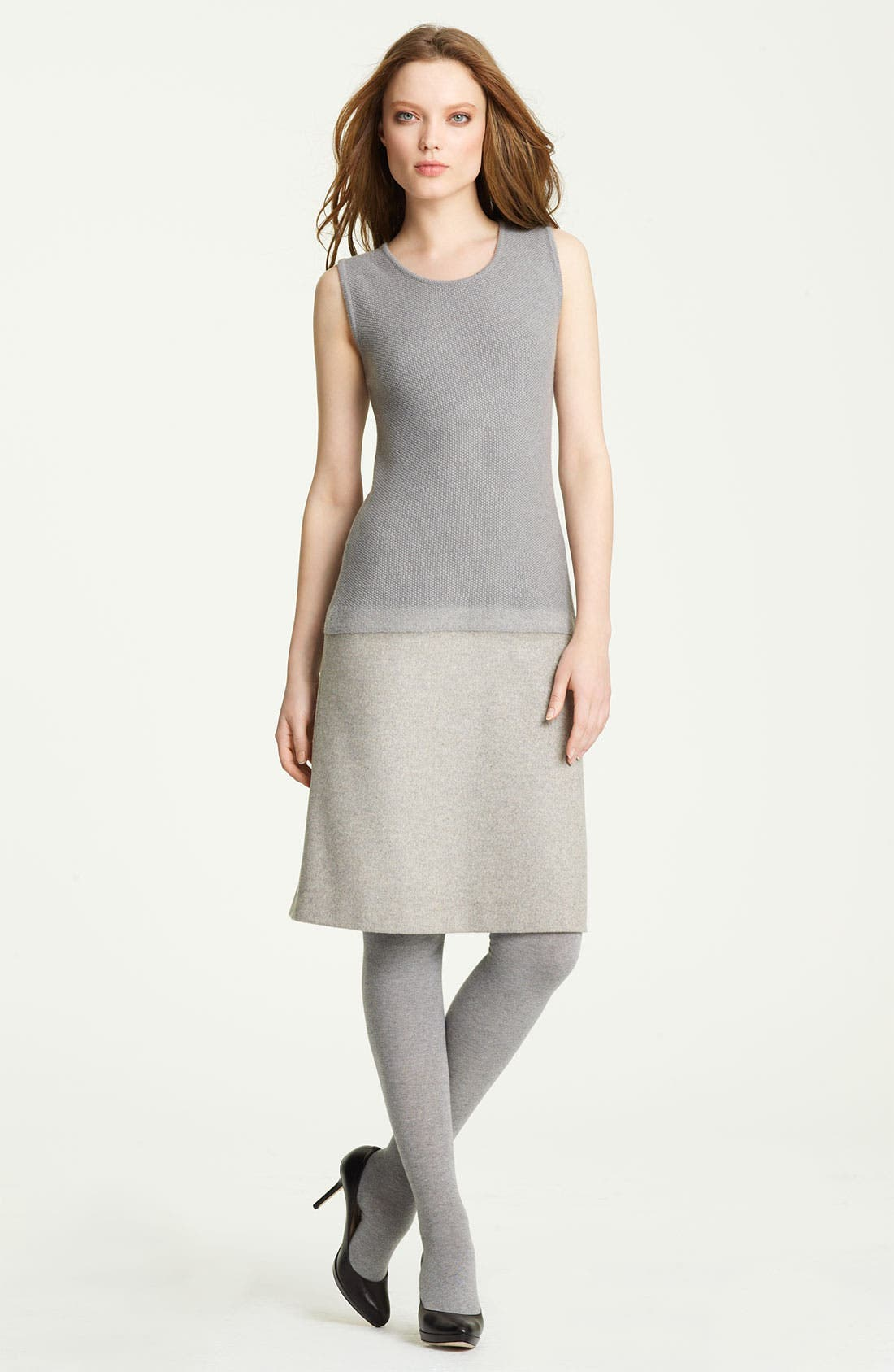 Main Image - Fabiana Filippi Knit & Felt Wool Blend Dress