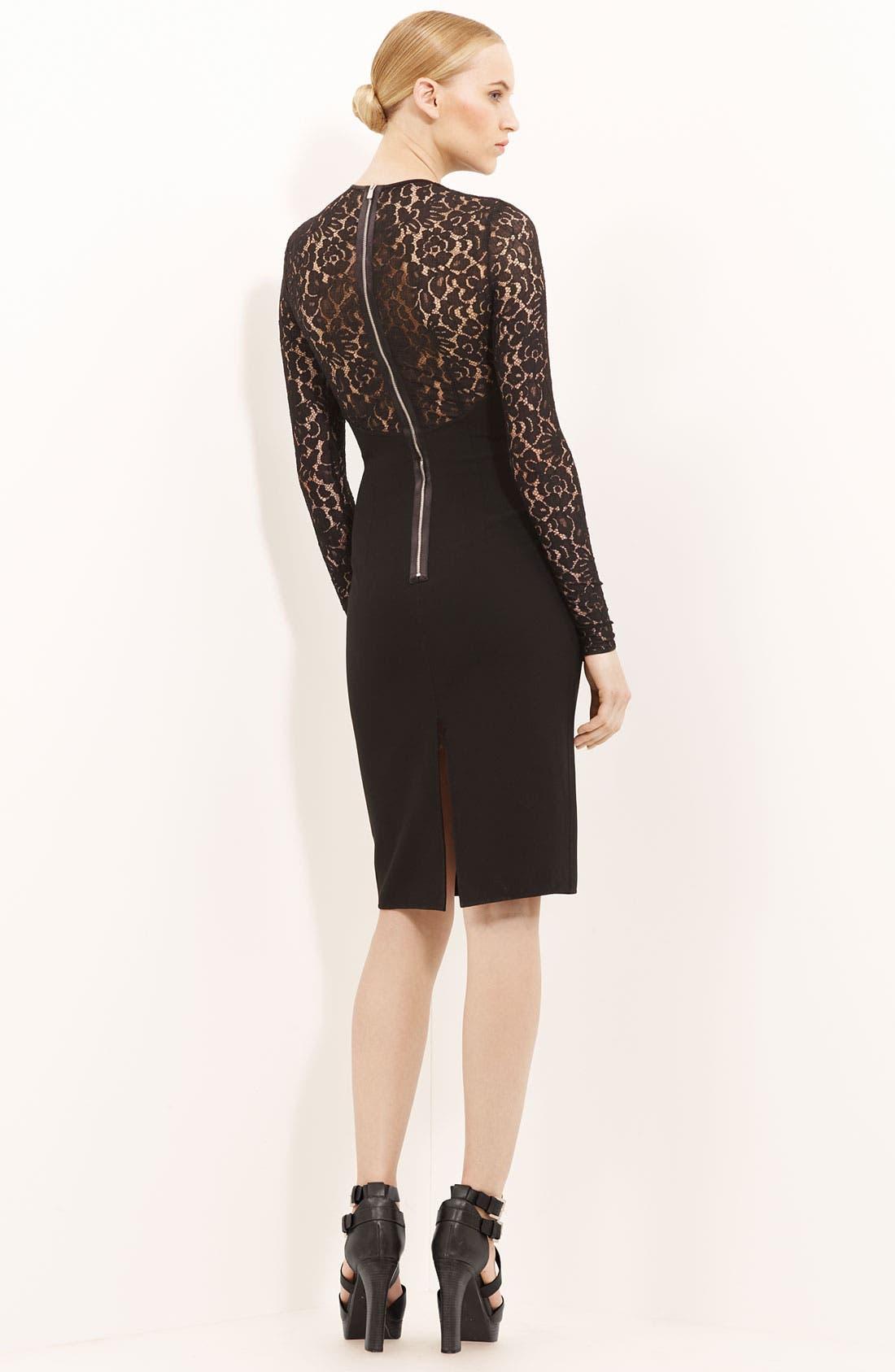 Alternate Image 2  - Michael Kors Lace & Crepe Dress
