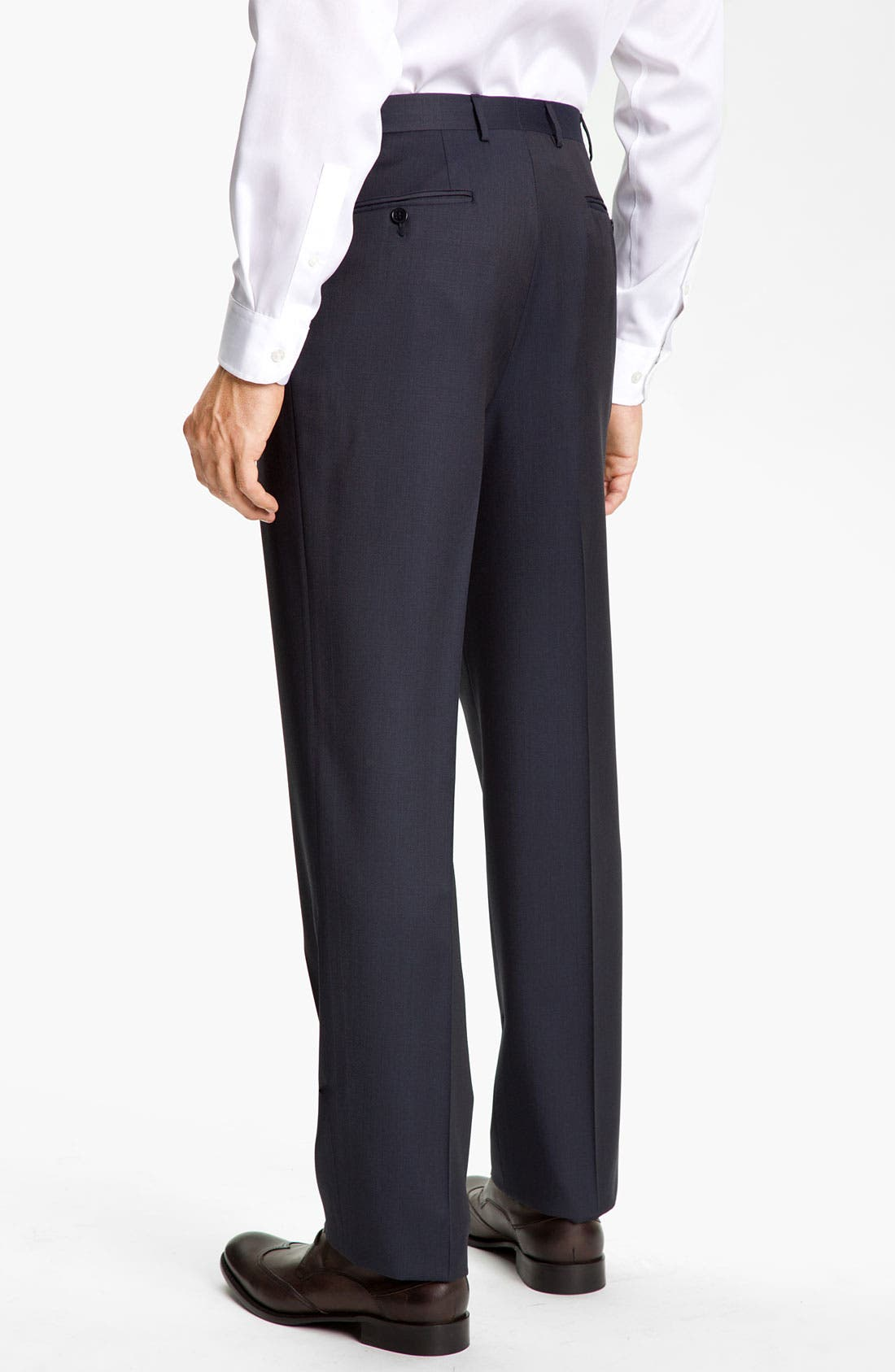 Alternate Image 2  - Canali Flat Front Trousers