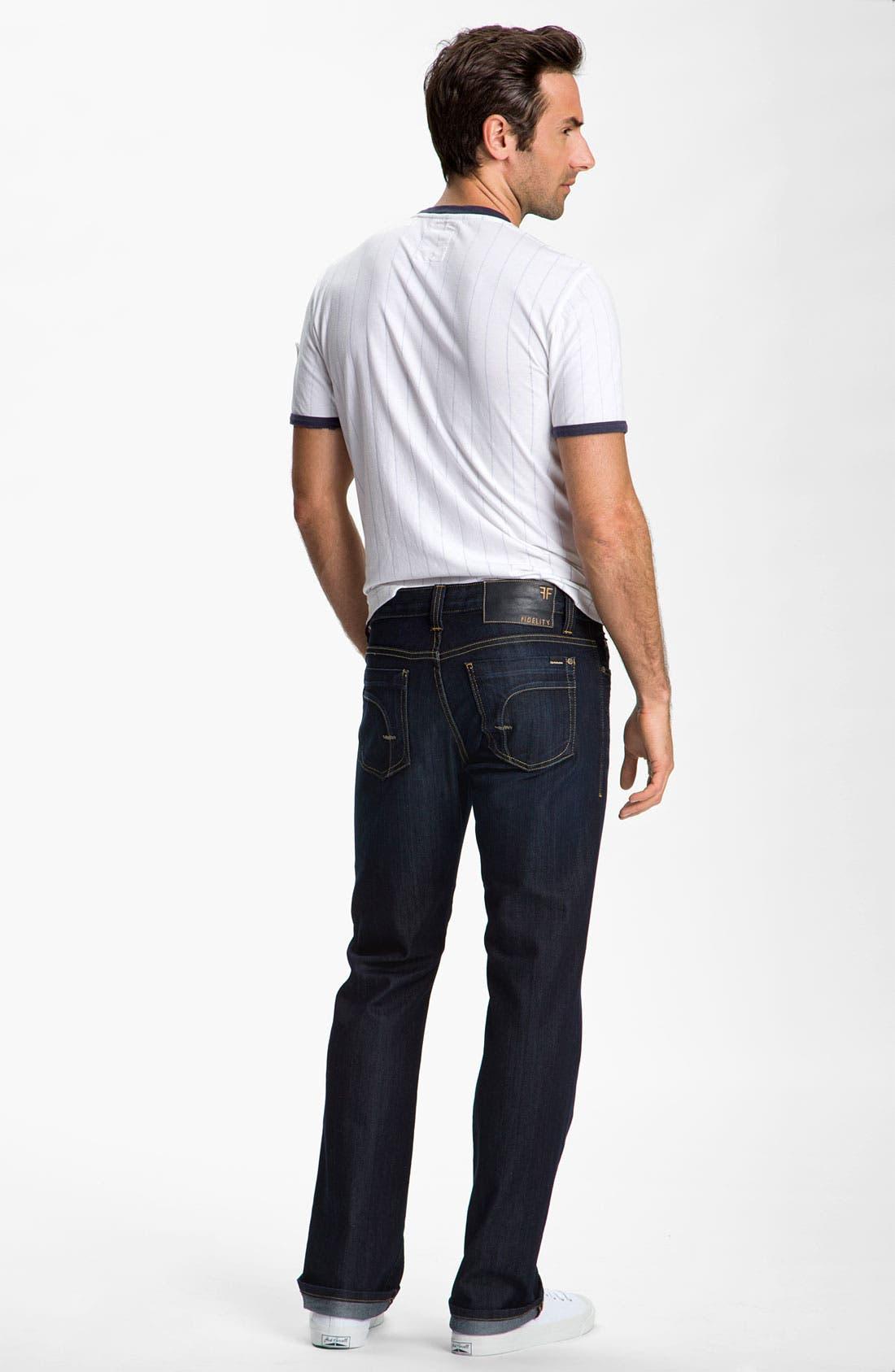 Alternate Image 6  - Red Jacket 'New York Yankees' Trim Fit Ringer T-Shirt (Men)