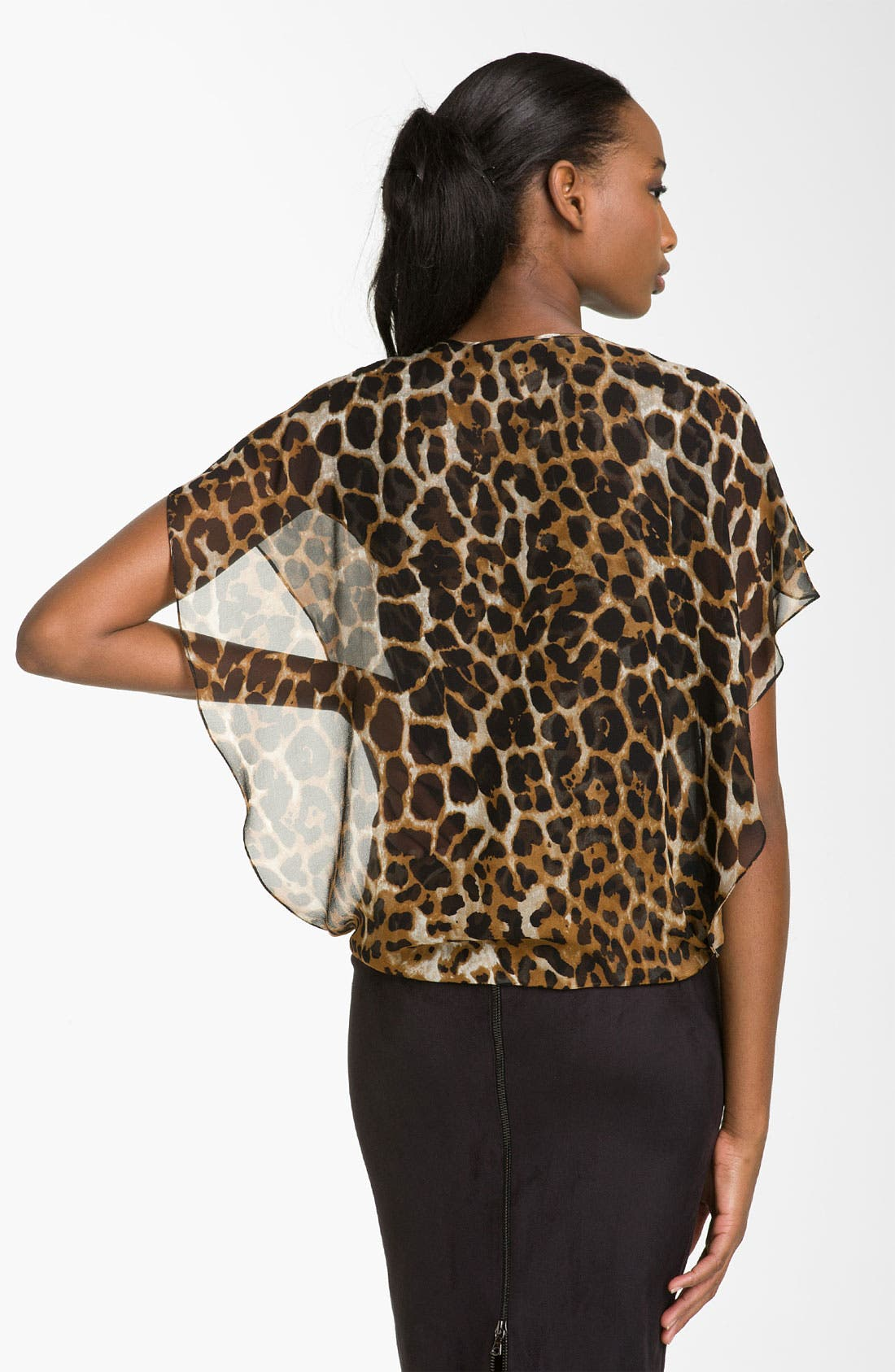 Alternate Image 2  - Robert Rodriguez 'Leopard' Surplice Chiffon Top