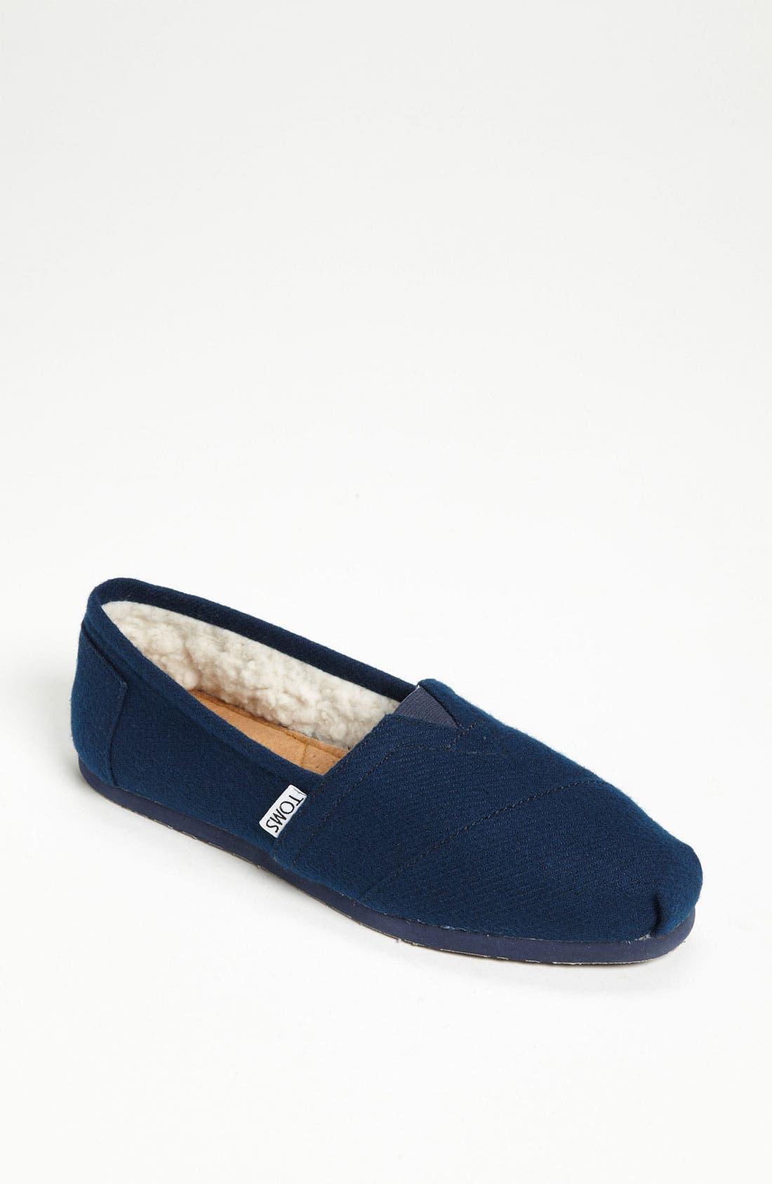 Main Image - TOMS 'Classic' Woolen Slip-On (Women) (Nordstrom Exclusive)
