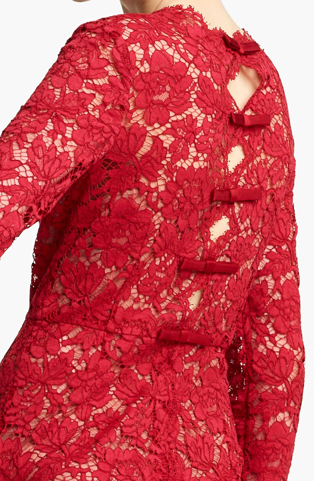 Alternate Image 3  - Valentino Bow Detail Lace Sheath Dress