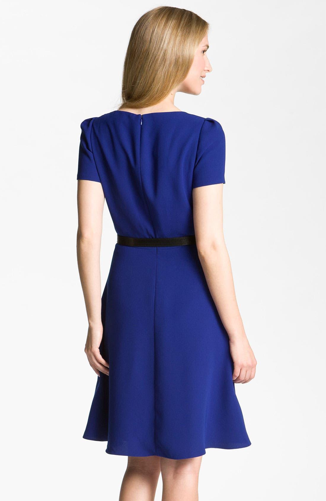 Alternate Image 2  - Tahari by Arthur S. Levine Drape Neck Crepe Fit & Flare Dress