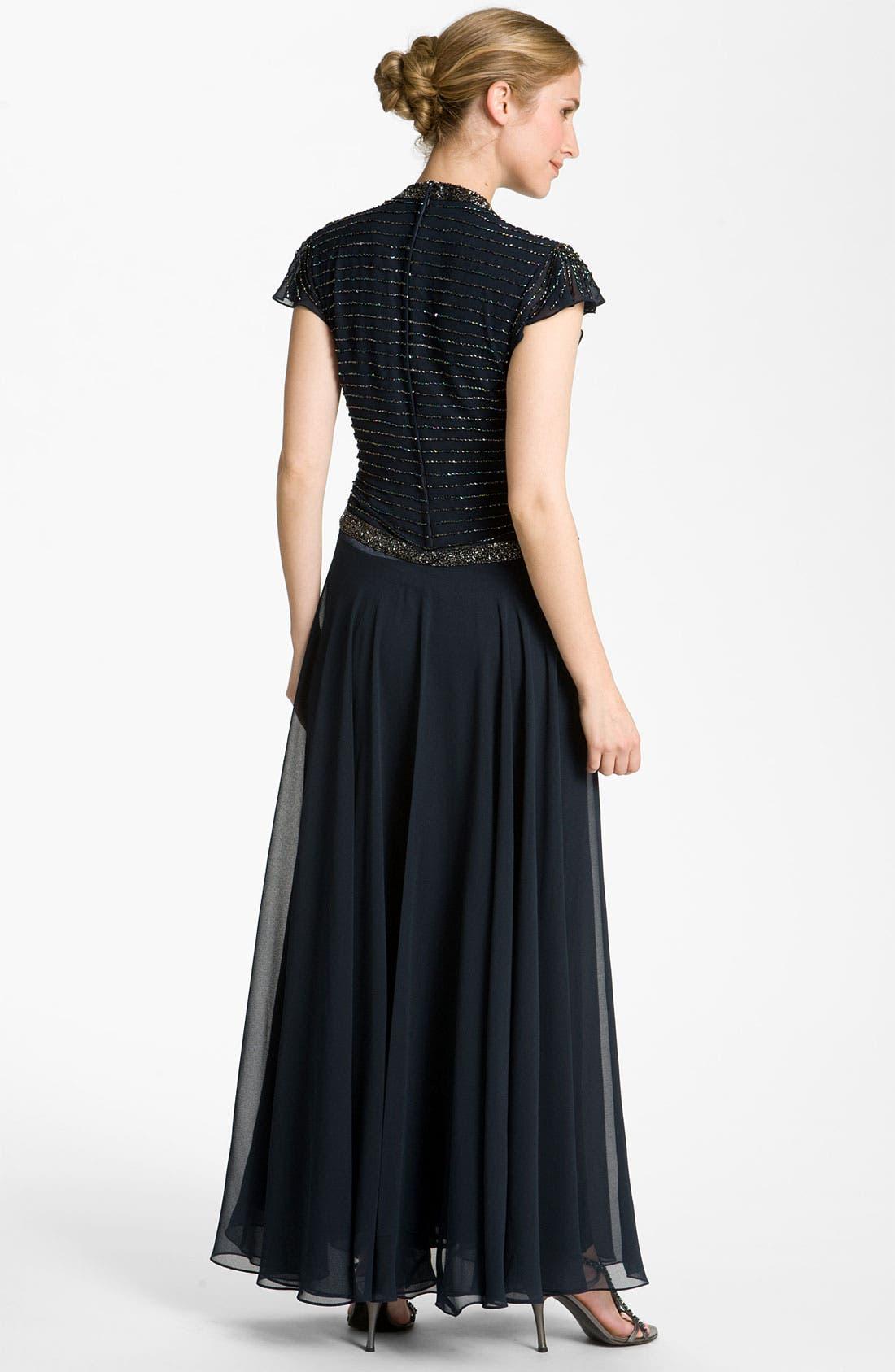 Alternate Image 2  - J Kara Embellished Chiffon Gown