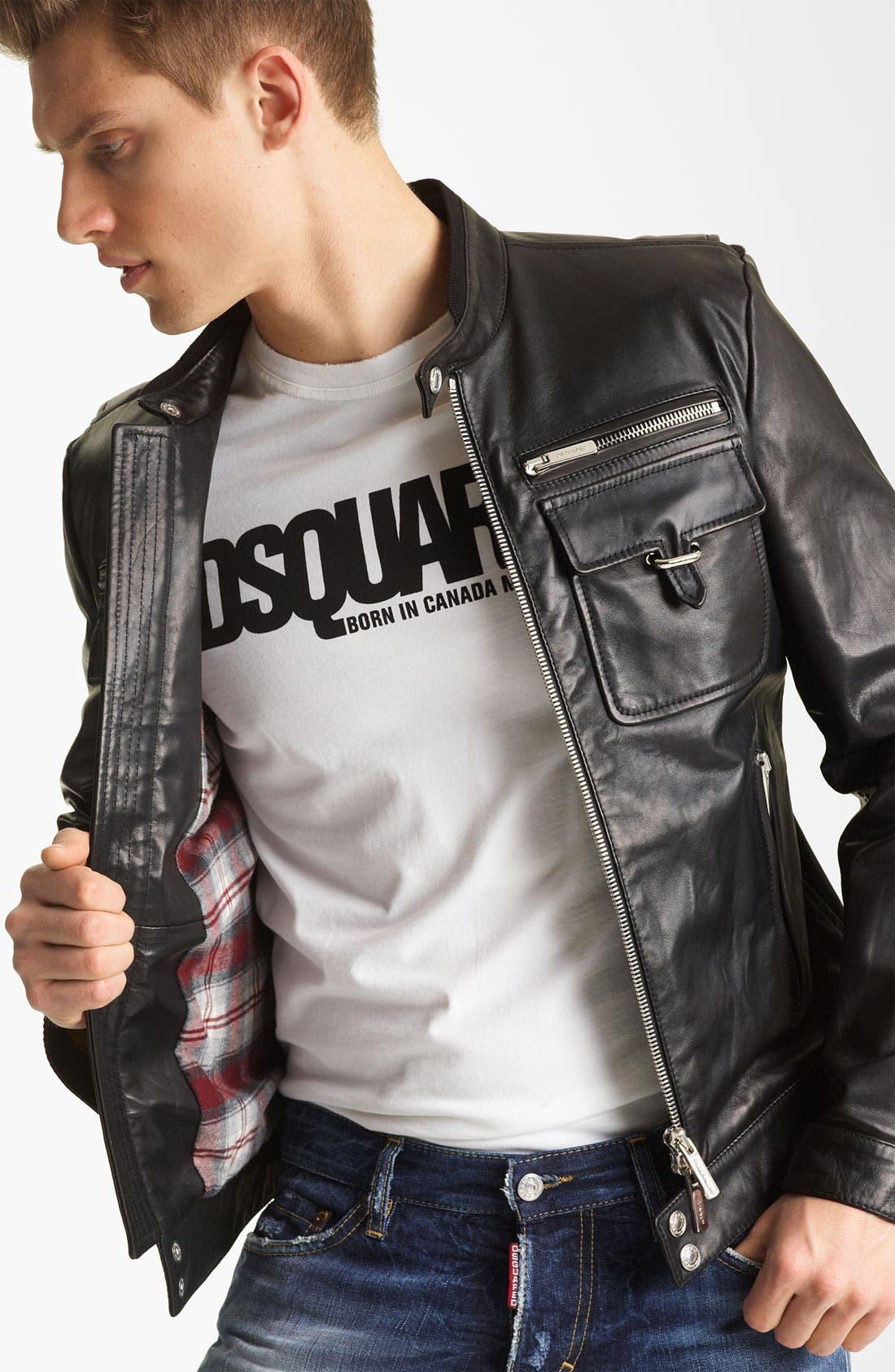 Alternate Image 4  - Dsquared2 'Chic' Leather Moto Jacket