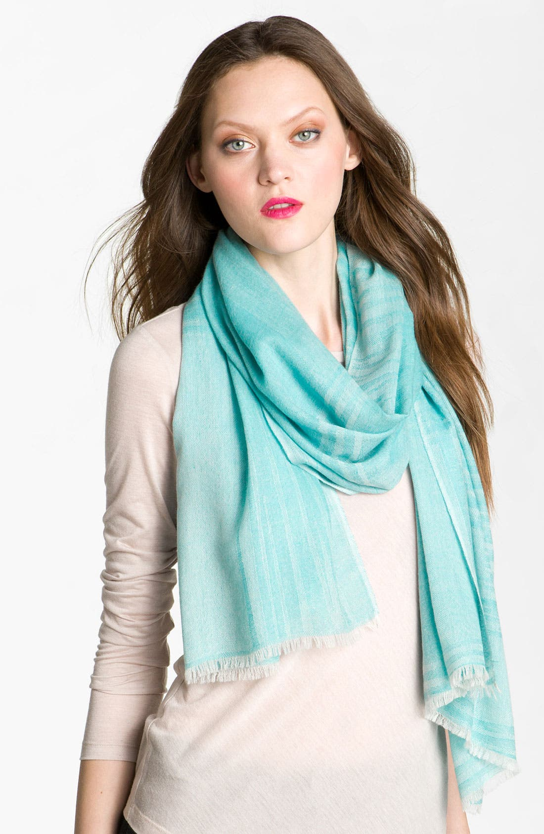 Alternate Image 1 Selected - Nordstrom Collection 'Painted' Jacquard Cashmere Scarf