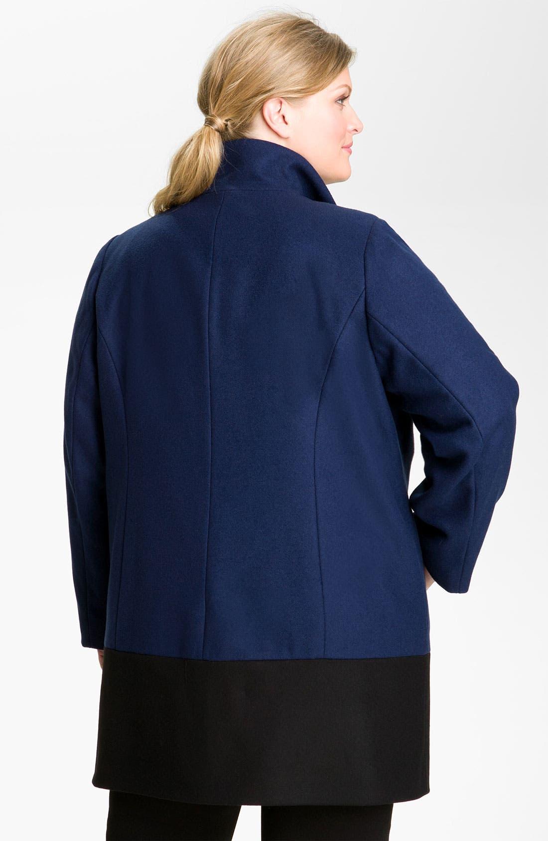 Alternate Image 2  - MICHAEL Michael Kors Colorblock Coat (Plus)