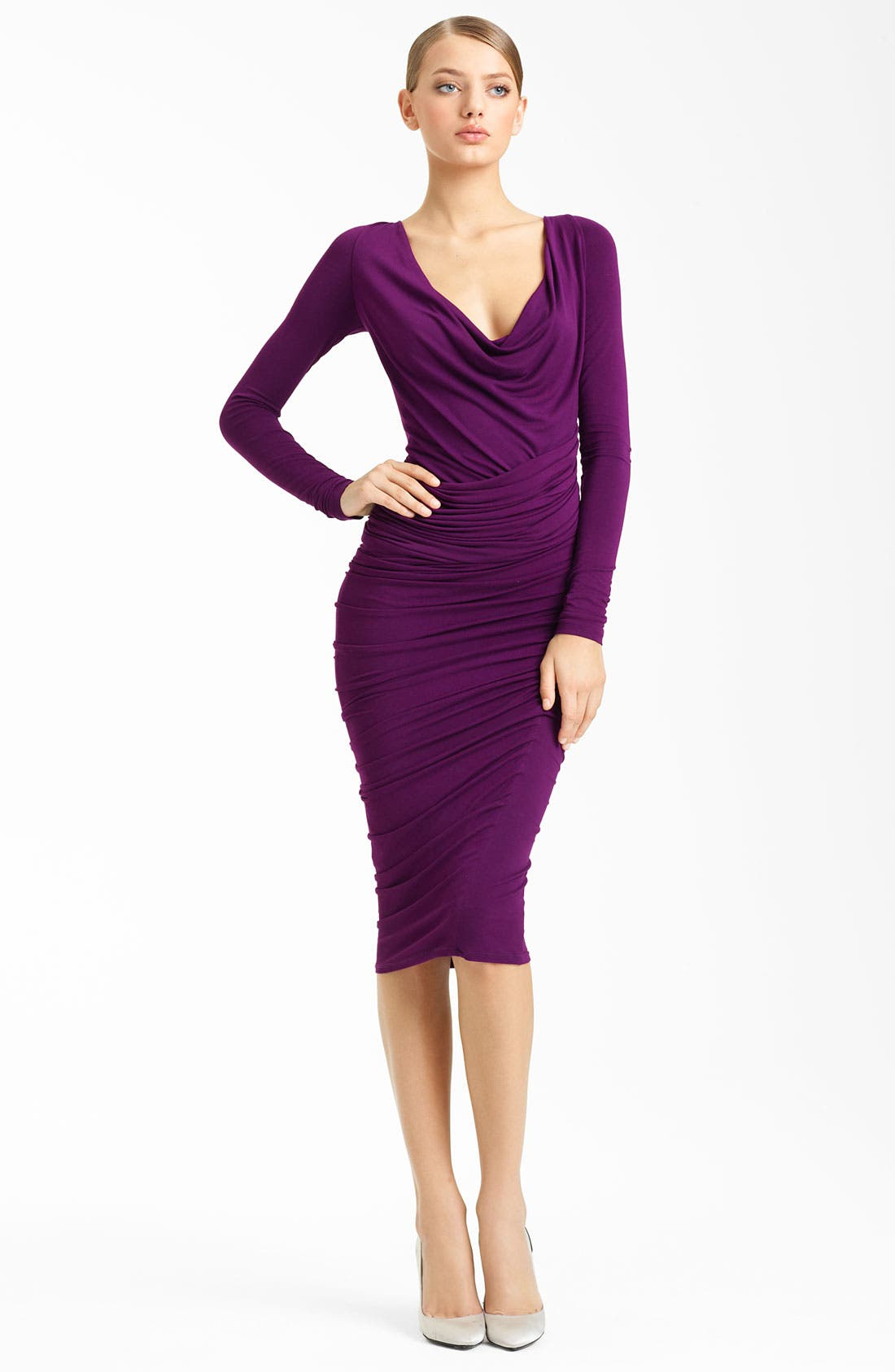 Main Image - Donna Karan Collection Ruched Jersey Dress