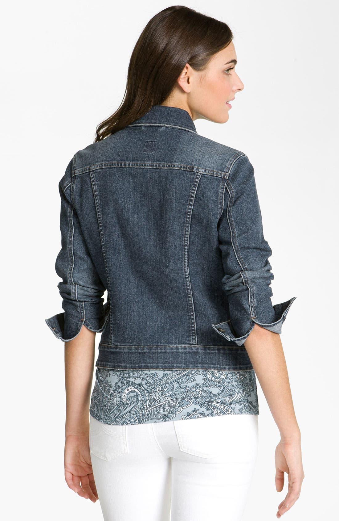 Alternate Image 2  - Jag Jeans 'Rupert' Denim Jacket (Petite)