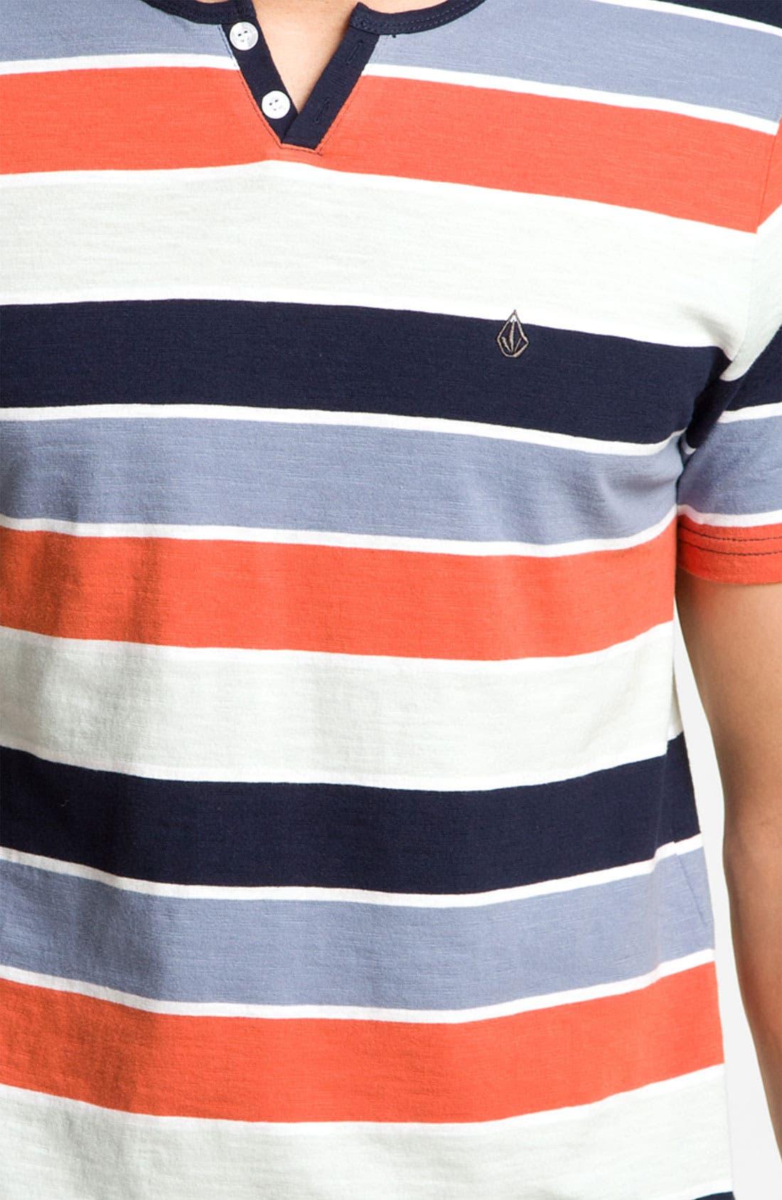 Alternate Image 3  - Volcom 'Lingo' Stripe Henley T-Shirt