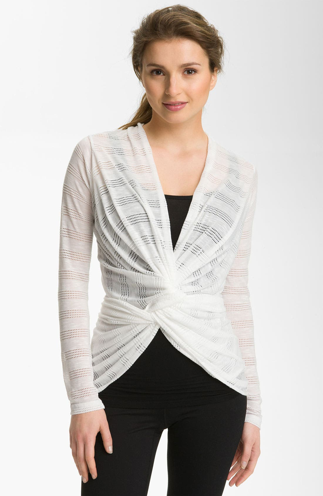 Alternate Image 1 Selected - Pink Lotus 'Needle Out Infinity' Wrap Cardigan