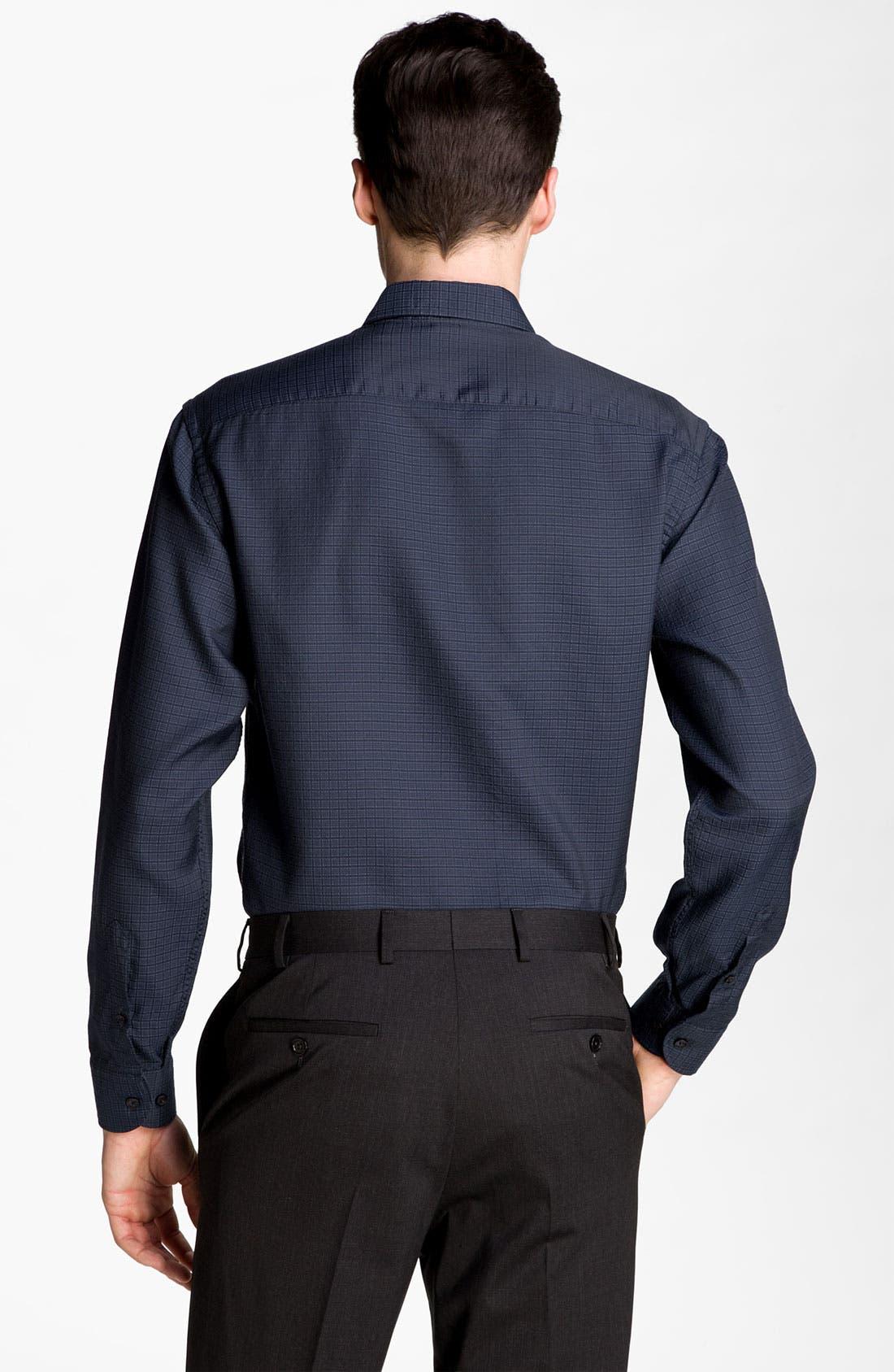 Alternate Image 2  - Armani Collezioni Grid Check Woven Shirt
