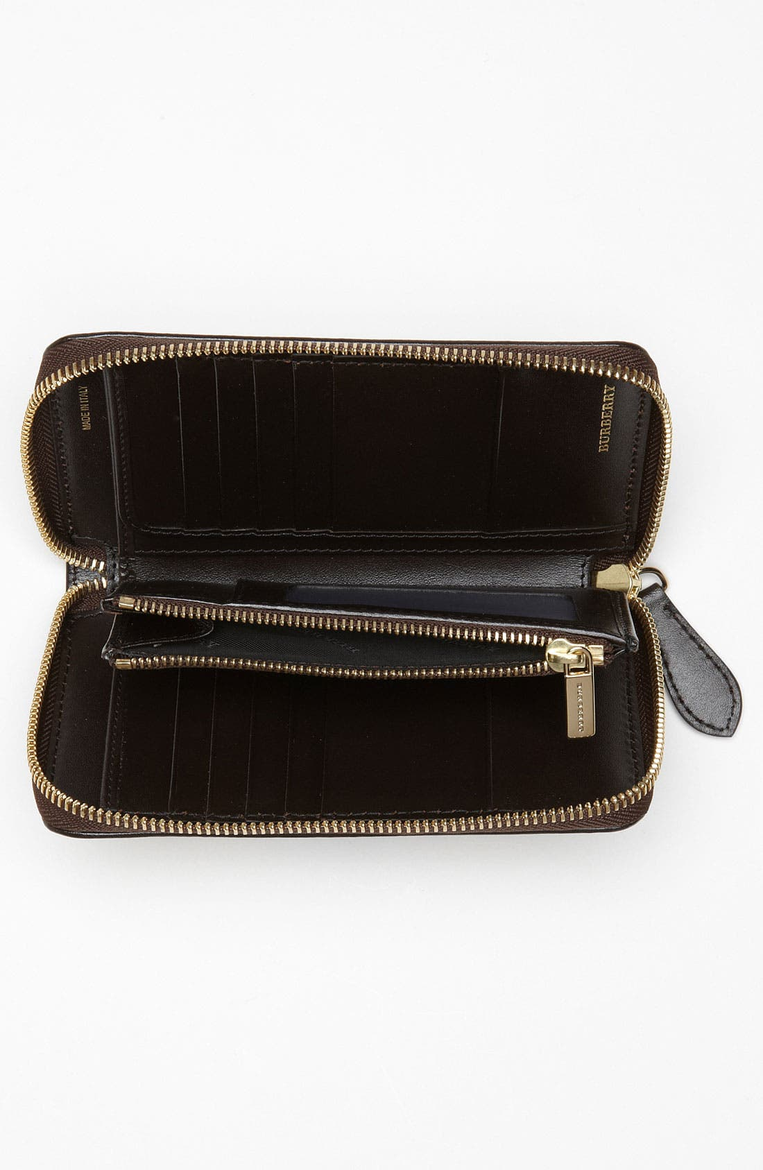 Alternate Image 3  - Burberry 'Haymarket Check' Compact Zip Around Wallet