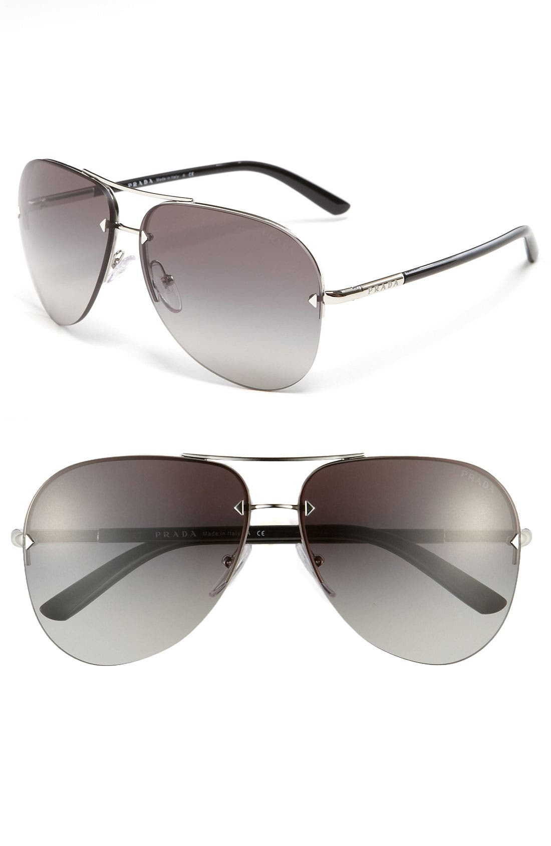 Alternate Image 1 Selected - Prada 61mm Aviator Sunglasses