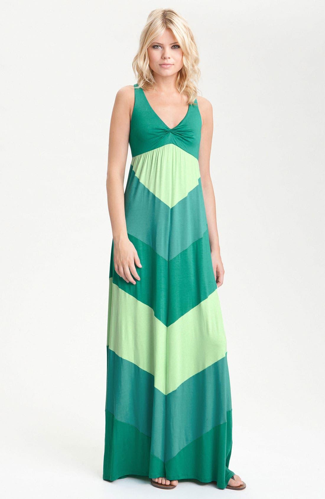 Main Image - Ella Moss 'Celia' Racerback Colorblock Maxi Dress