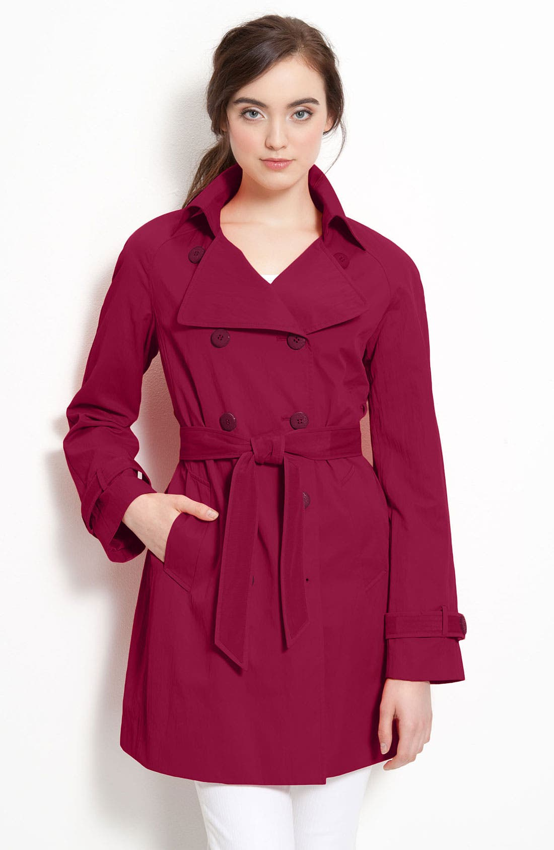 Alternate Image 1 Selected - Elie Tahari Double Breasted Trench Coat