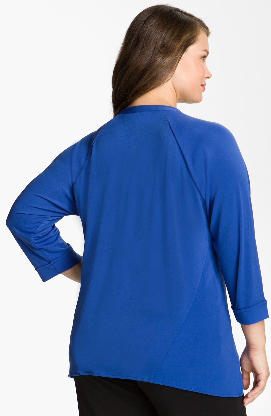 Alternate Image 2  - Sejour Jersey Knit Cardigan (Plus)