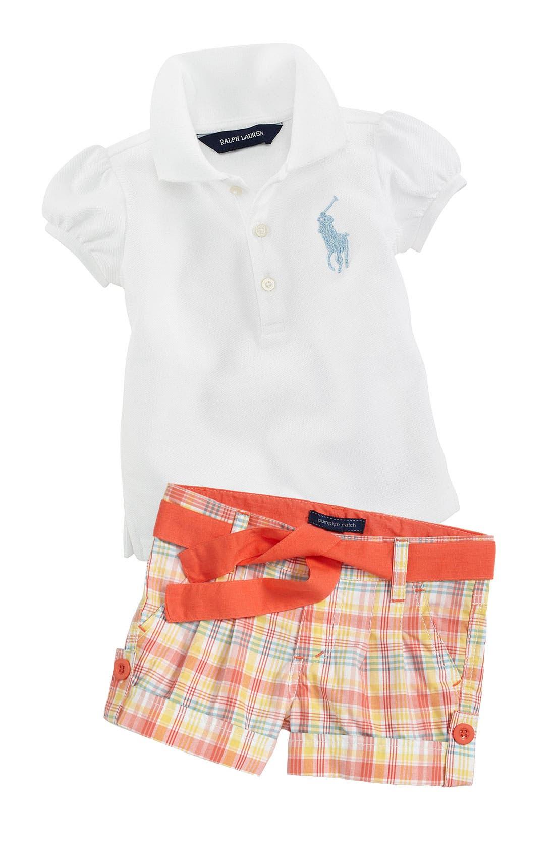 Alternate Image 1 Selected - Ralph Lauren Shirt & Pumpkin Patch Shorts (Infant)