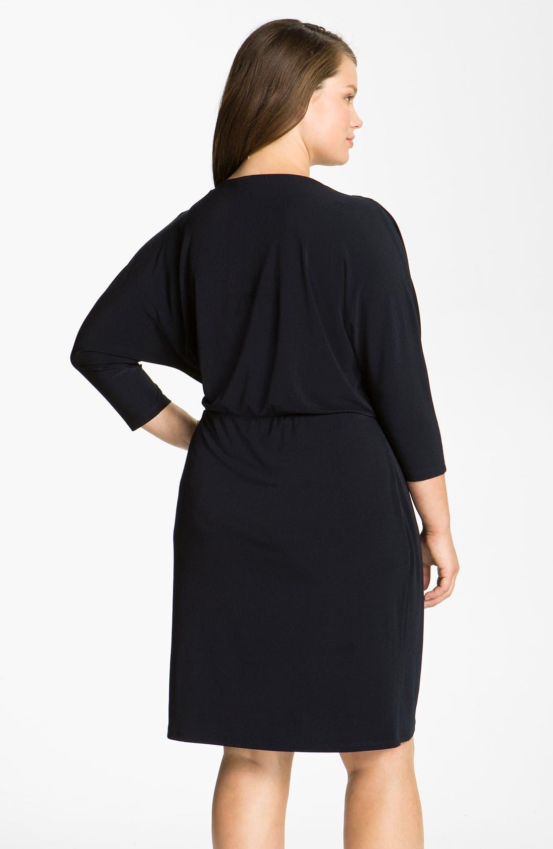 Alternate Image 2  - MICHAEL Michael Kors Surplice Jersey Dress (Plus)