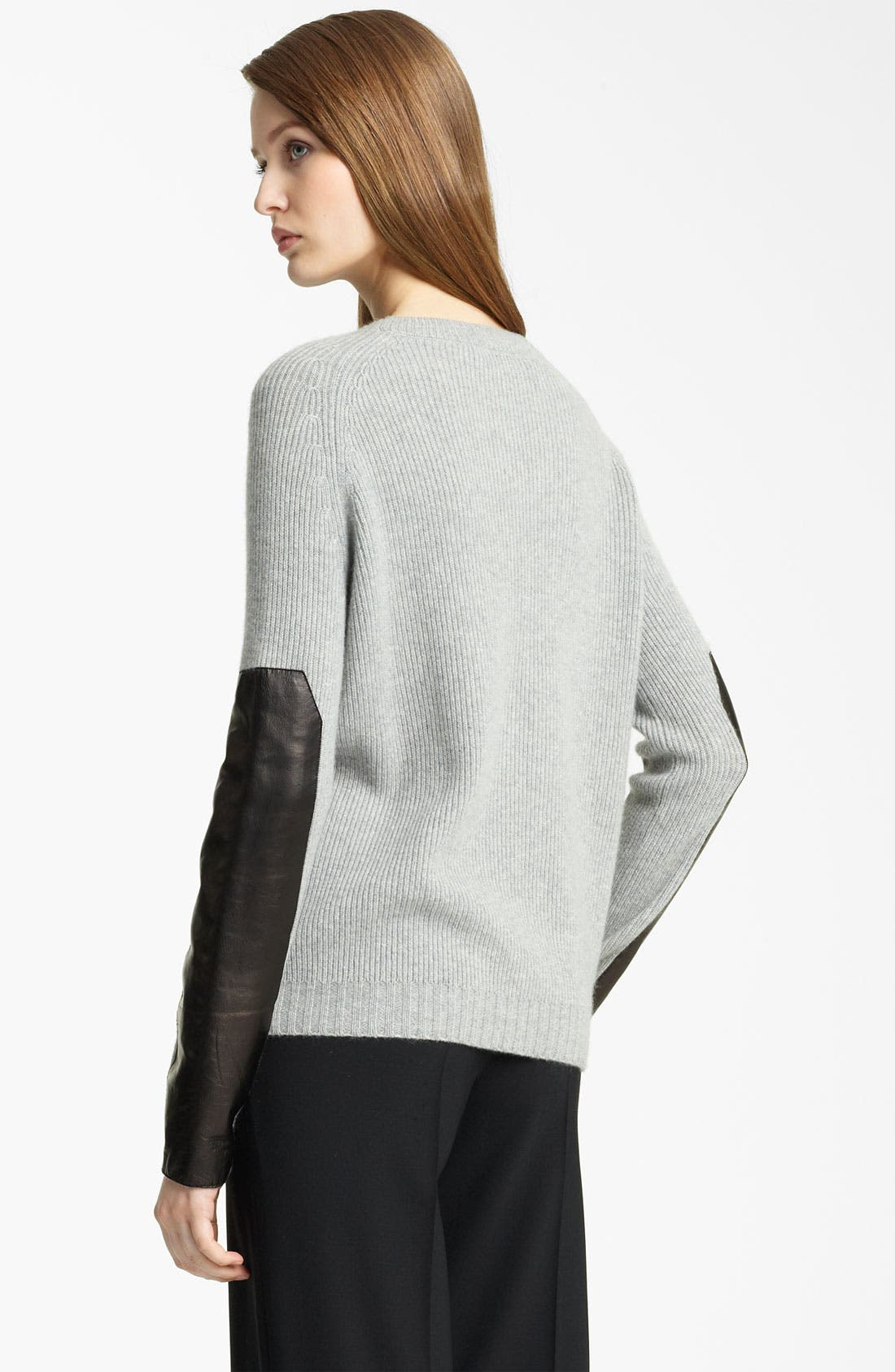 Alternate Image 2  - Reed Krakoff Leather Sleeve Cashmere Sweater